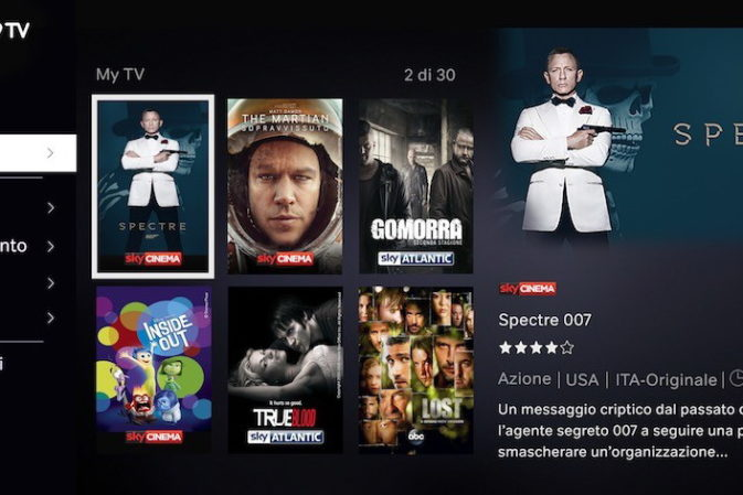 TV On Demand: addio Sky Online, arriva Now TV