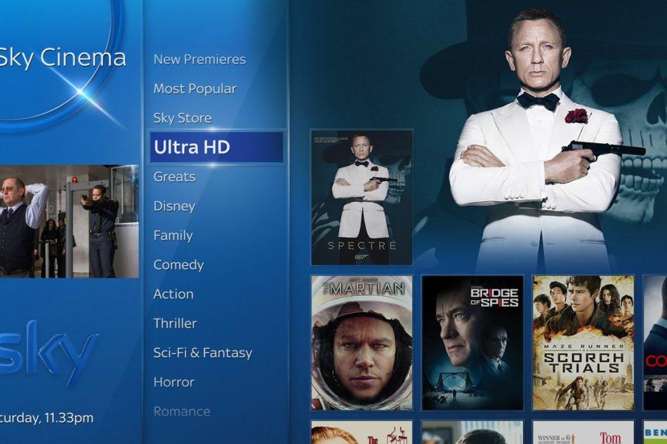 SkyQ ora anche in Ultra HD/4K
