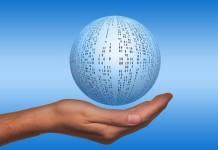 Palla digitale mano ricerca sviluppo