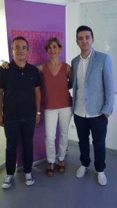 Da sx: Donato Cilente, Marta Herrero e Alberto Stanca