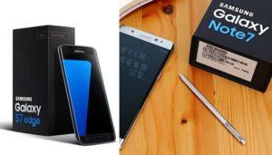 Samsung Galaxy Note 7 vs Edge 7