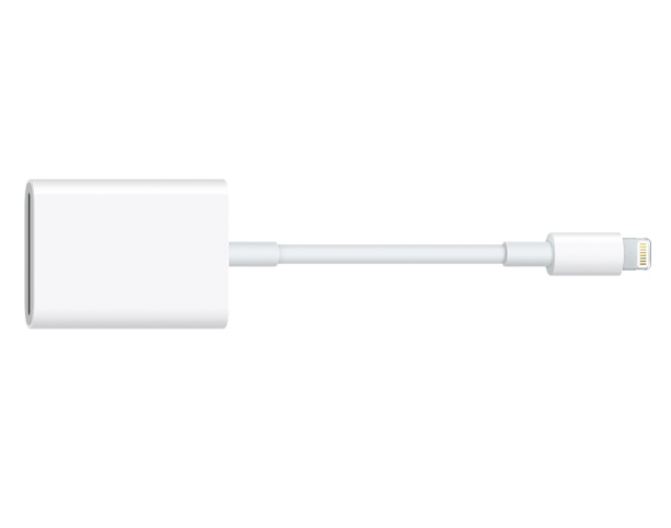 Apple Lightning a scheda SD USB 3