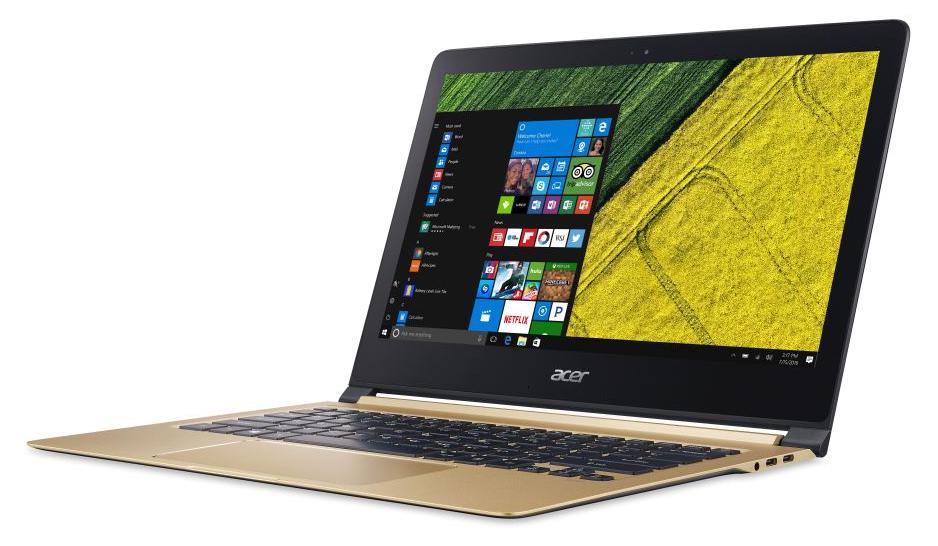 Acer Swift 7, uno dei primi portatili con processore Kaby Lake Core i7 della linea U