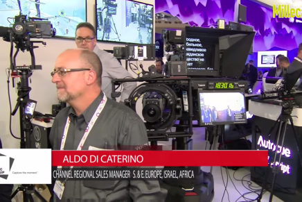 IBC 2015: Aldo Di Caterino, Channel Regional Sales Manager S.& E. Europe, Israel, Africa Vitec Group
