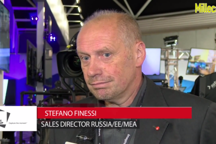 IBC 2015: Stefano Finessi, Sales Director Russia/EEMEA Vitec Group, e Sofia Braccio, Product Manager Digital, Manfrotto