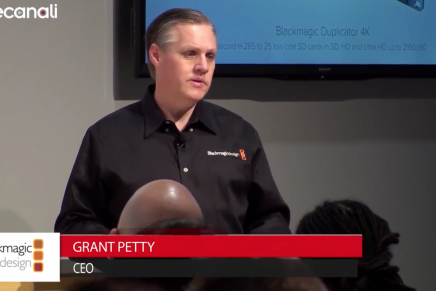 Nab 2016, conferenza stampa di Grant Petty, Ceo, Blackmagic