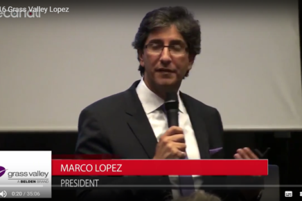 IBC 2016: conferenza stampa Marco Lopez, Grass Valley