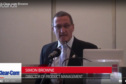 IBC 2016, Simon Browne, Clear-Com