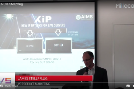 IBC 2016, James Stellpflug, EVS