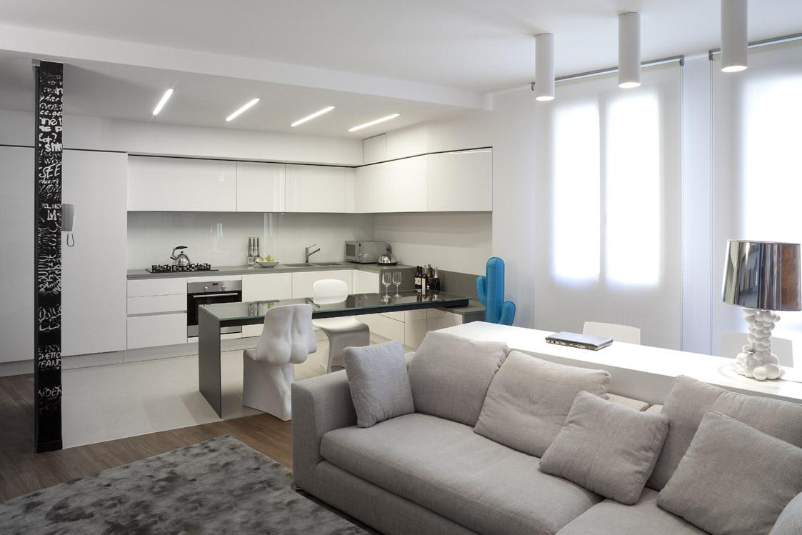 La Cucina Soggiorno : La word art ridisegna cucina e soggiorno