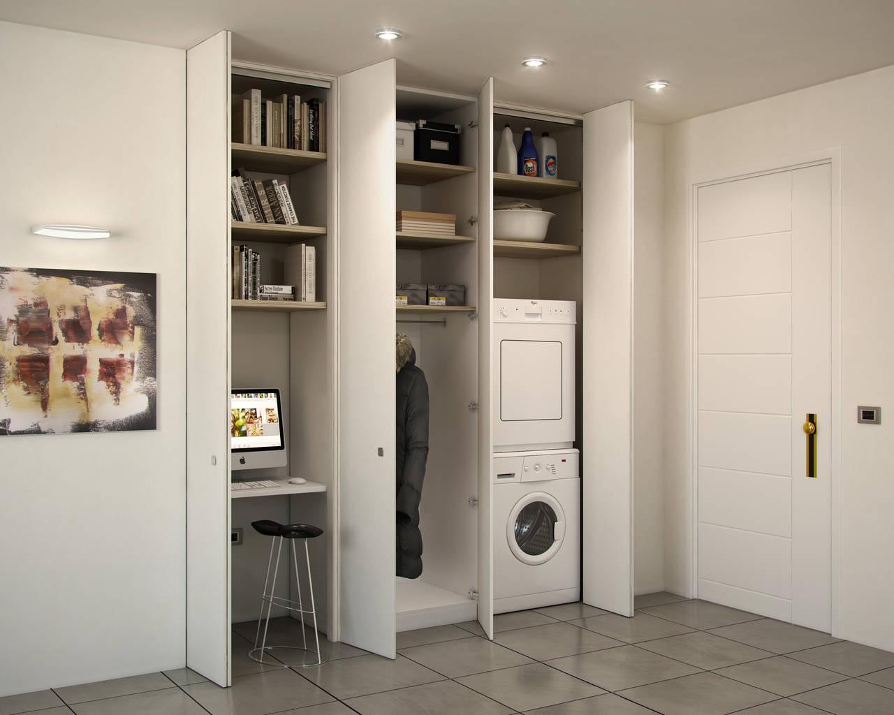 Zona lavanderia in bagno: ristrutturazione bagno soluzione ...