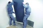 Posa pannelli verticali
