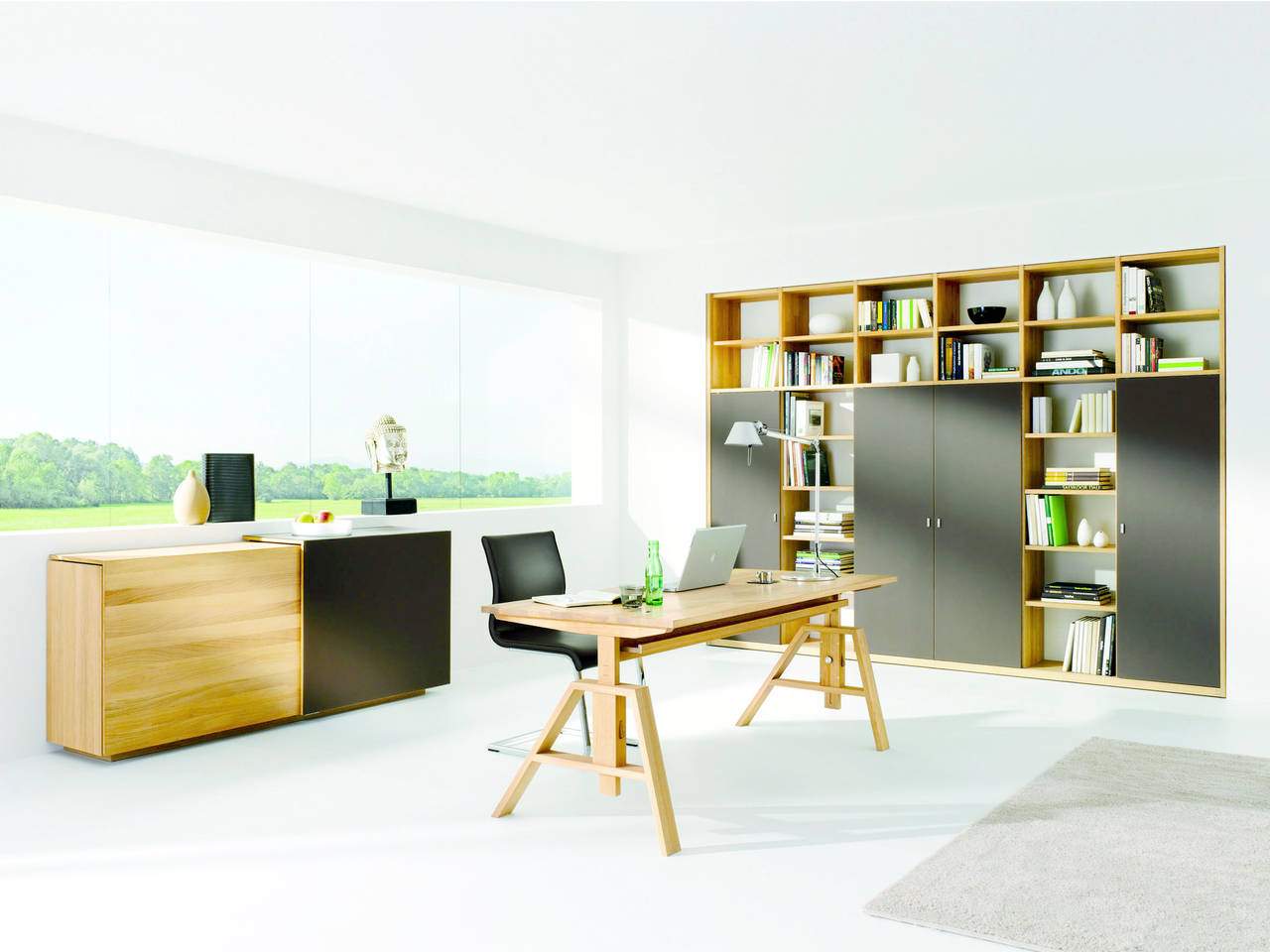 Home office by team 7 for Piccole planimetrie per l home office
