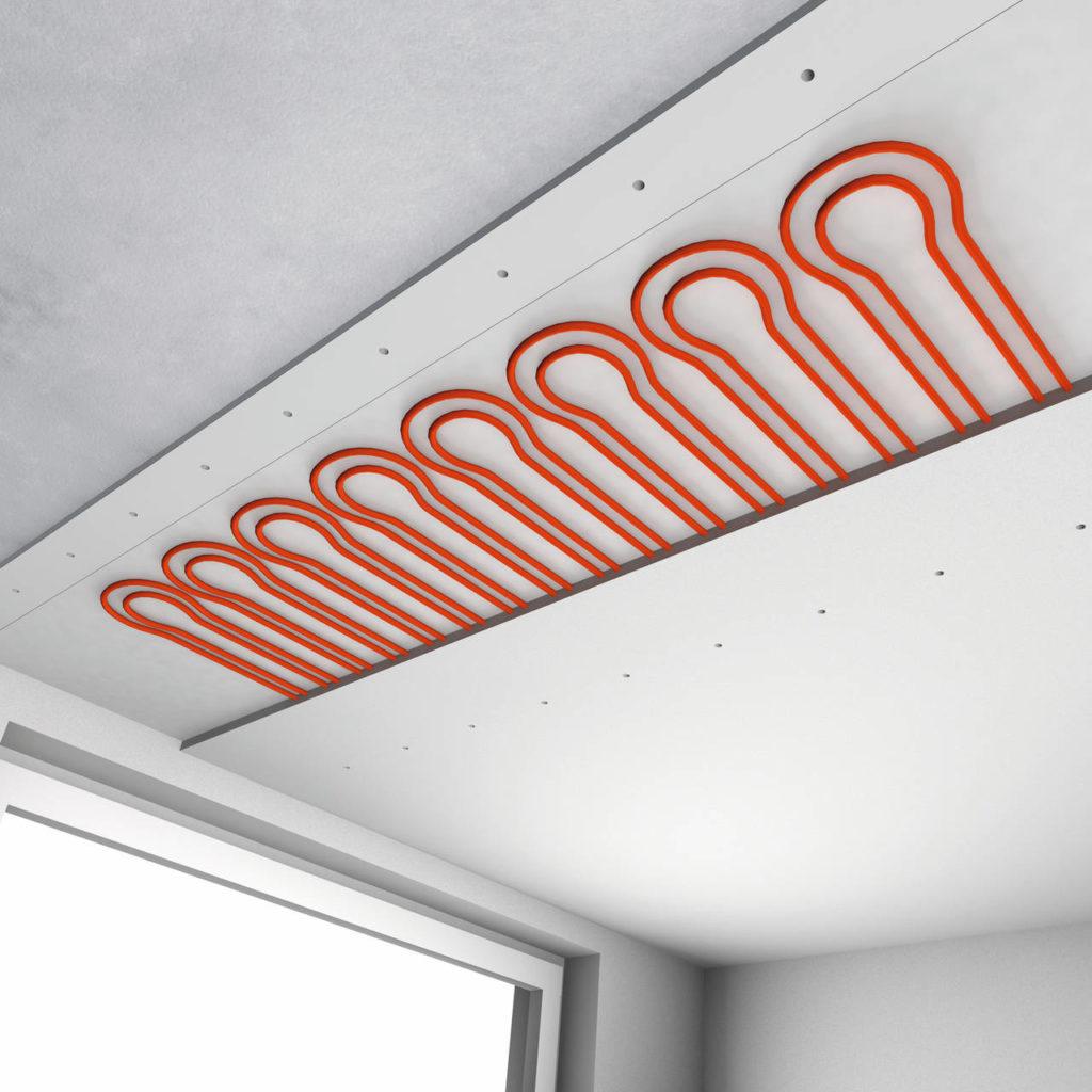Sistema radiante a soffitto REHAU