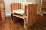 Caratterizzata dalla forma cubica, la poltrona dà un tocco di personalità all'arredamento di casa o di ufficio. Dimensioni: 80x148cm