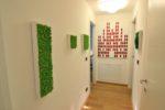 Quadri vegetali installati presso l'Experience Design, boutique hotel in via Tortona a Milano