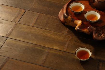Un pavimento originale in bamboo
