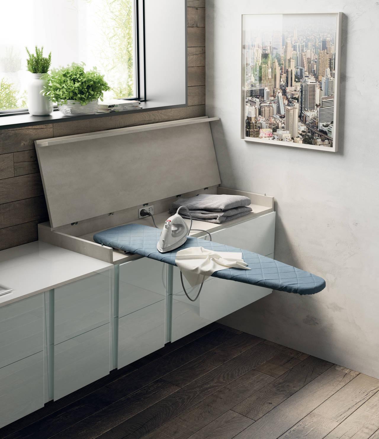 La lavanderia che scompare nei mobili del bagno - Mobili bagno lavanderia ...