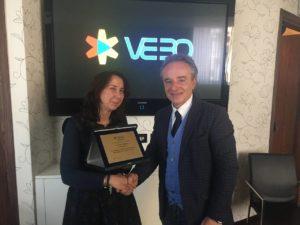 Laura-Tarroni-direttore di CasaStile con Luciano Paulillo, Presidente VEBO