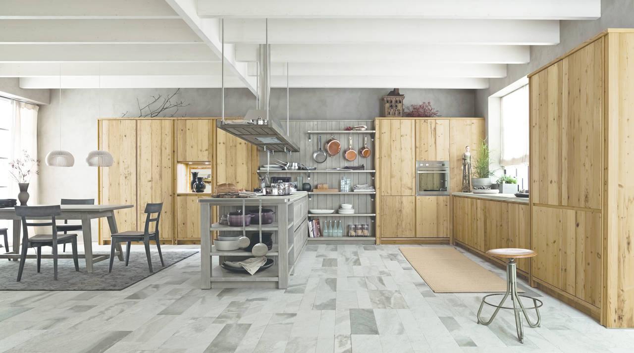 Cucine in legno un ambiente caldo e vissuto ambiente cucina - Cucine in legno naturale ...