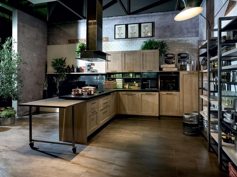 Un 39 aria molto vissuta ambiente cucina - Mobili vintage usati ...