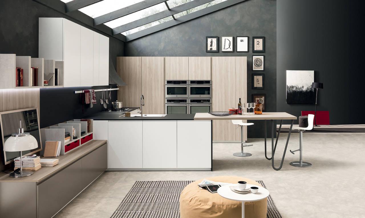 Volumia oversize il nuovo sistema cucina di febal casa for Idee pittura casa