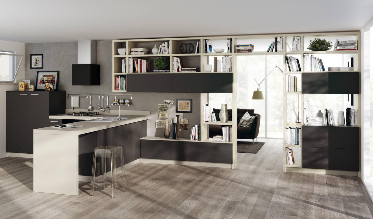 Scavolini interpreta la zona living ambiente cucina for Arredamento living