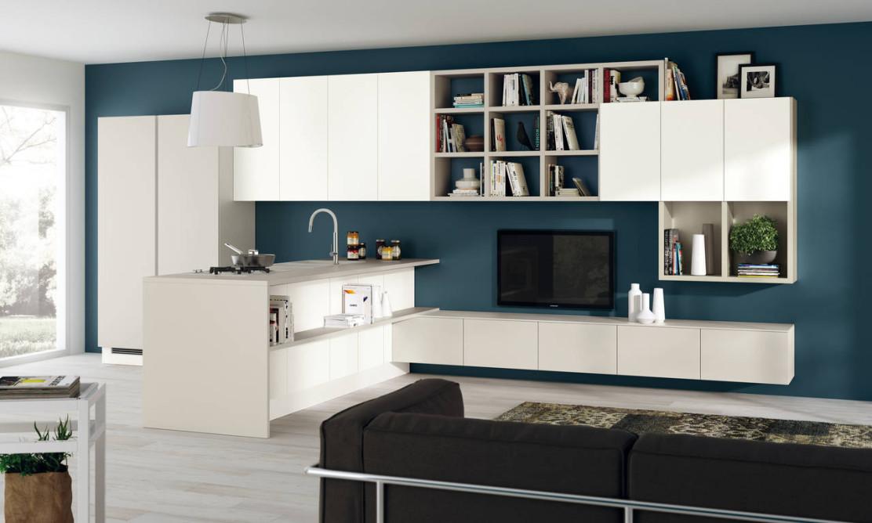 Scavolini interpreta la zona living ambiente cucina for Zona living design