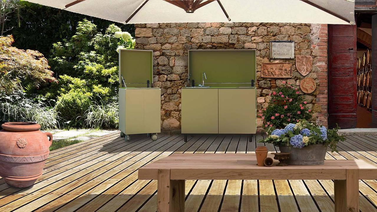 Cucinare e vivere outdoor ambiente cucina - Cucine esterne da terrazzo ...