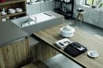 Cucine con finiture effetto legno