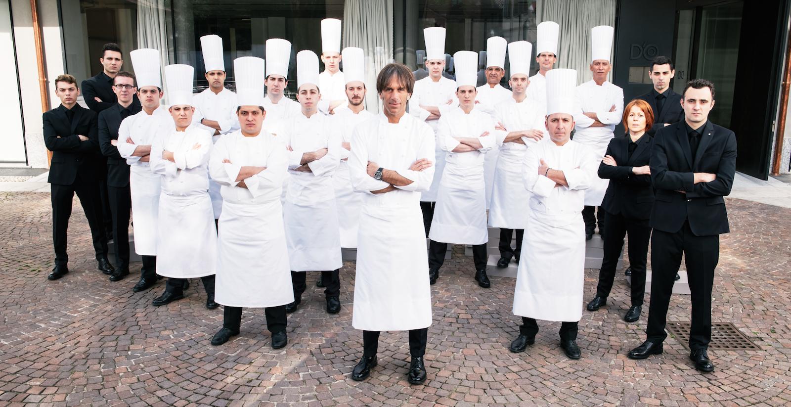 Lo staff del Ristorante D'O di Davide Oldani (Photo by Sebastiano Rossi)