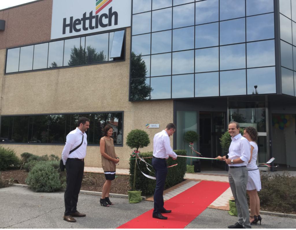 Il taglio del nastro della nuova sede di Hettich Italia di Andreas Hettich, presidente del Gruppo