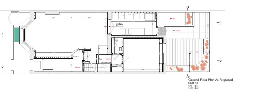 MINACCIOLO_progetto_Londra_pianta Flat1 - piano terra