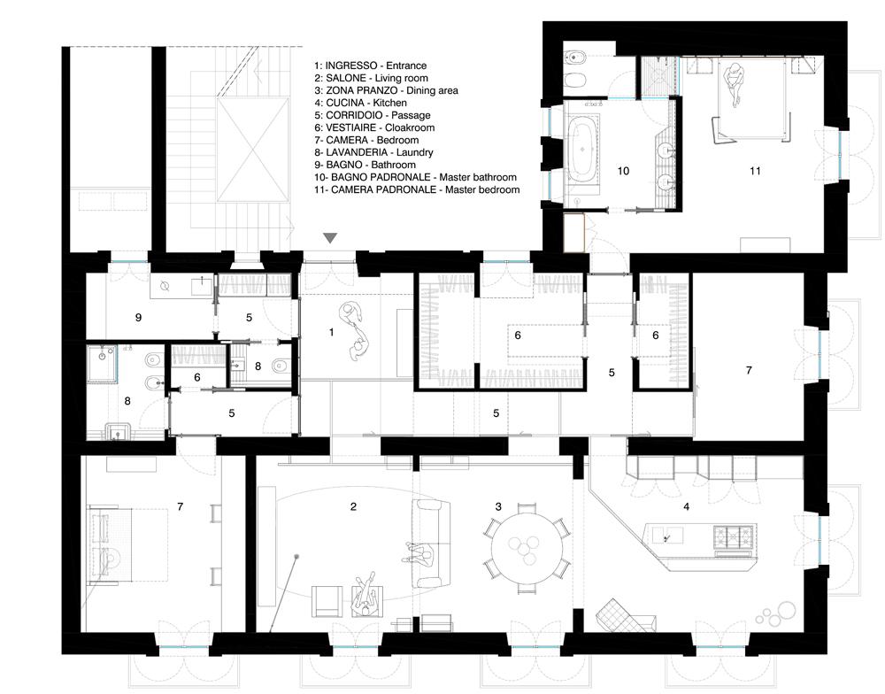 Marcante-Testa_casa Bari_pianta appartamento