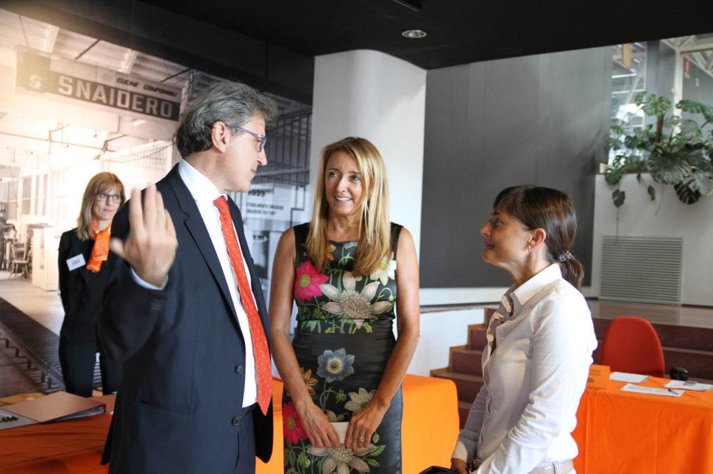 Il presidente Edi Snaidero con Sandra Snaidero, responsabile della comunicazione