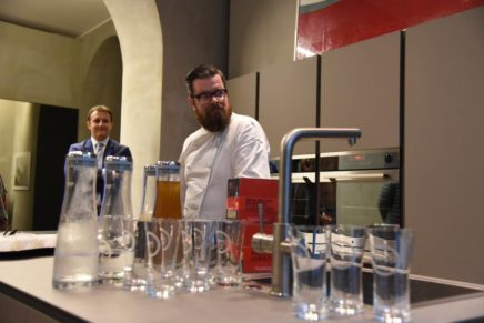 Show cooking dello chef Eugenio Boer per Grohe Blue® Home