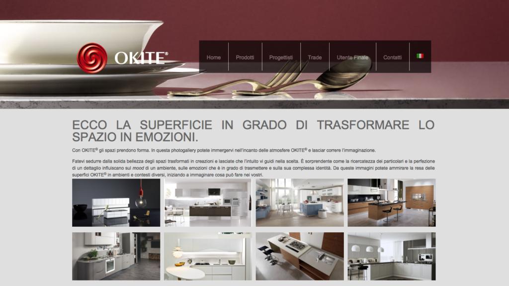La sezione Gallery del nuovo sito Okite
