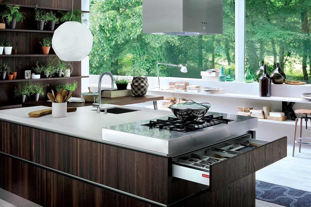 Isole funzionali per showcooking domestici - Isole per cucine moderne ...