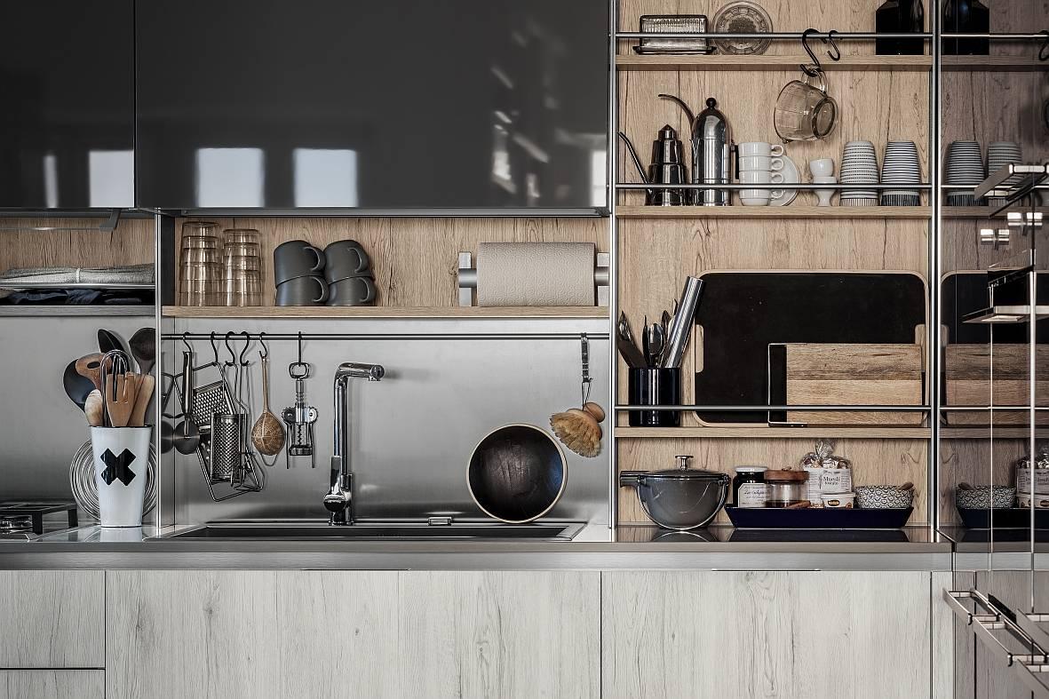 Elementi di integrazione cucina e living for Cucine modulari