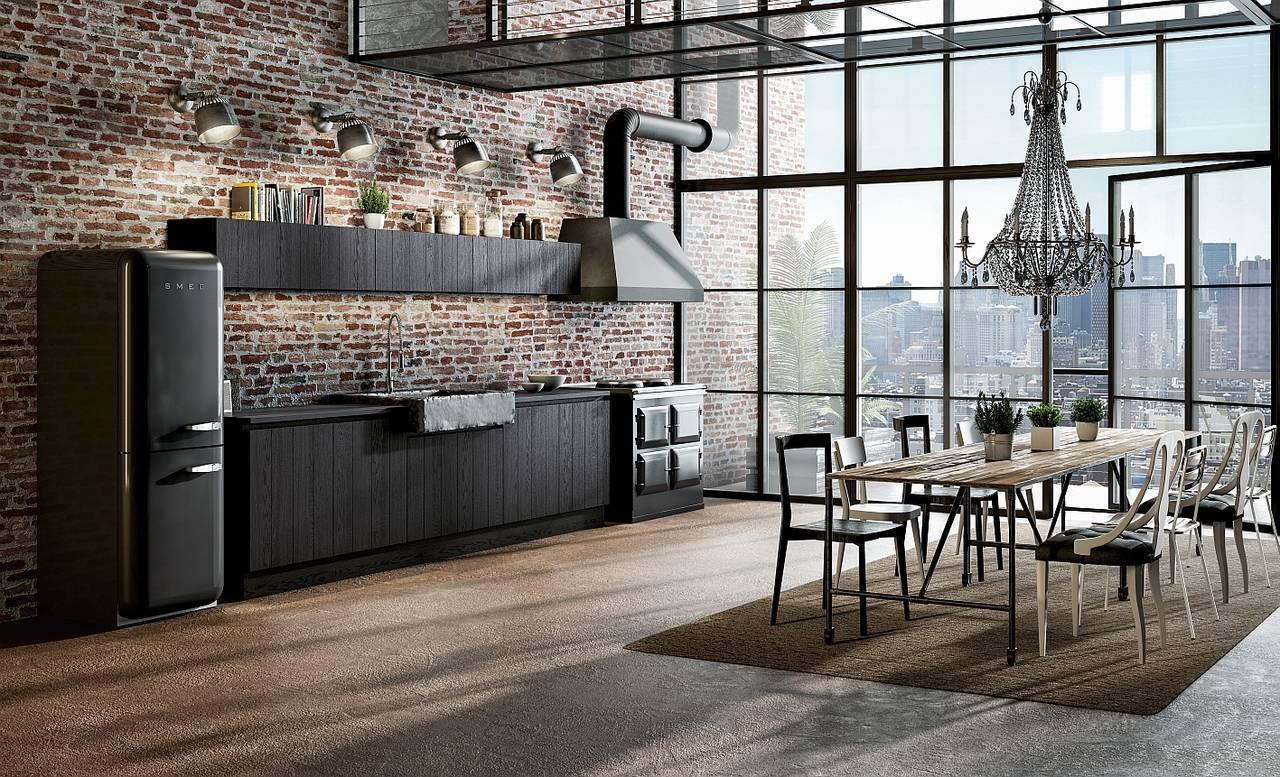 Il legno vissuto dello stile industrial ambiente cucina for Riviste arredamento cucine