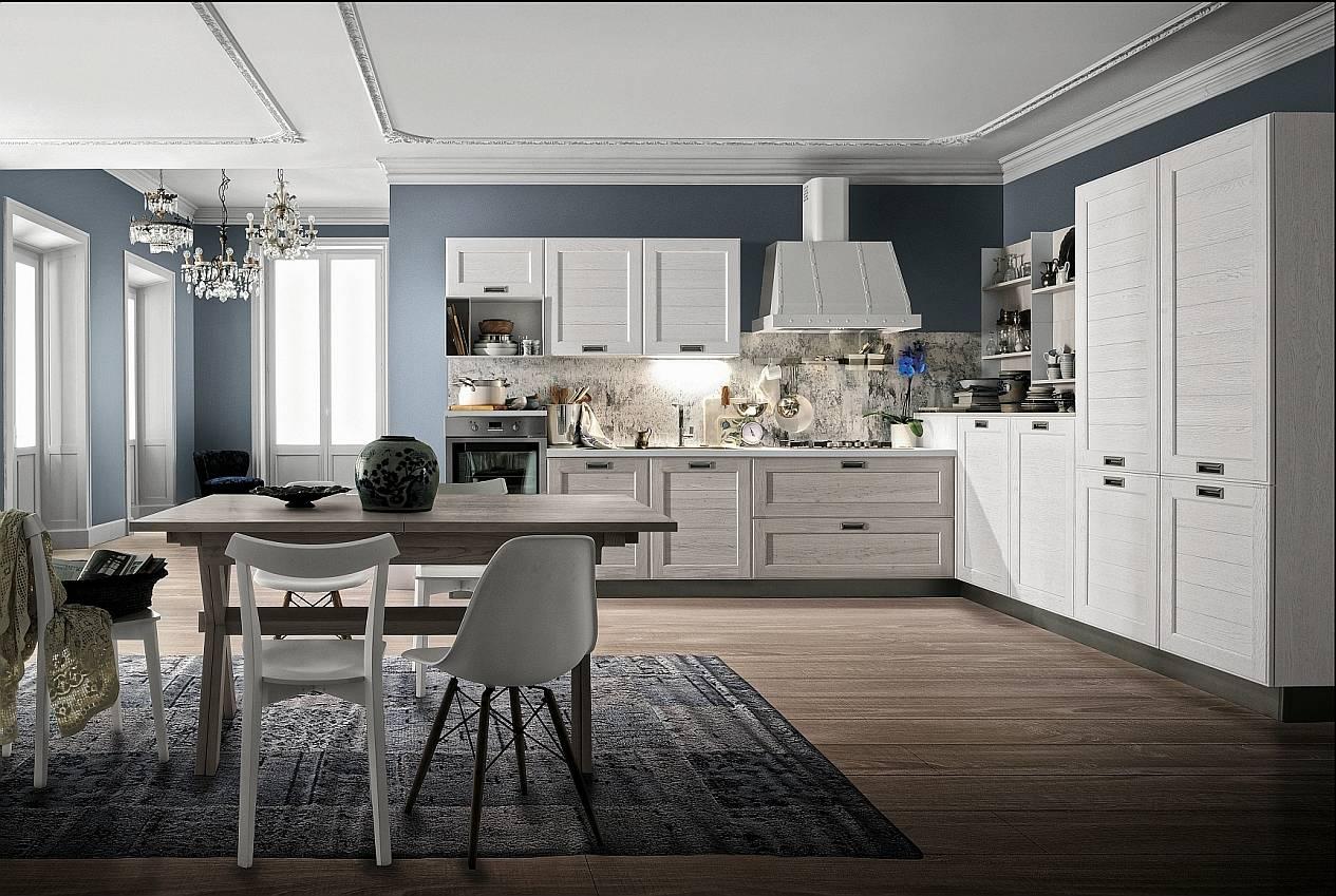Il fascino delle ante a telaio ambiente cucina - Scaffale cucina ...
