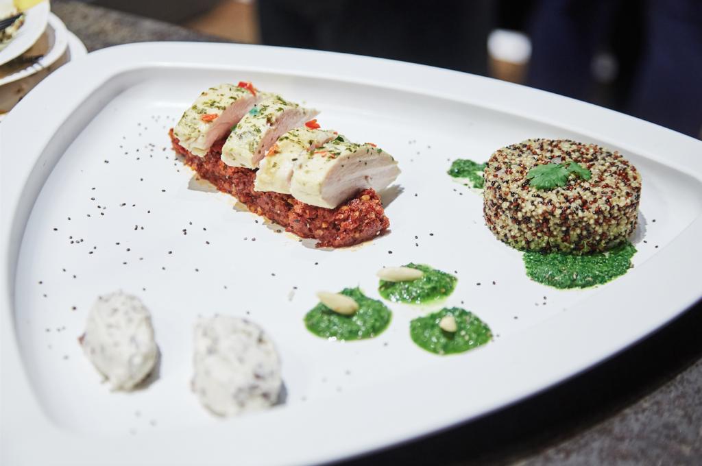 Il piatto con la ricetta di Genius Loci, che ha vinto il primo premio