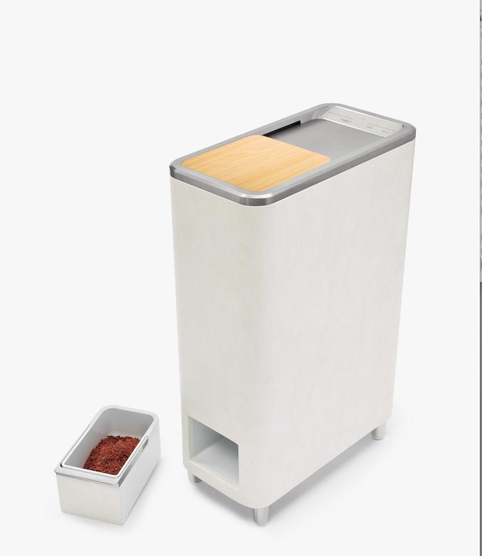 Zera™ è il primo sistema di riciclo domestico ideato da Whirlpool in grado di convertire entro 24 ore i rifiuti alimentari di una settimana in fertilizzante pronto all'uso