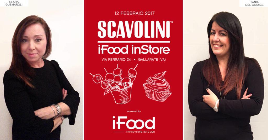 L'inaugurazione del 12 febbraio dello Store ha visto protagoniste le due blogger di IFood Clara Gusmaroli e Tania Del Giudice