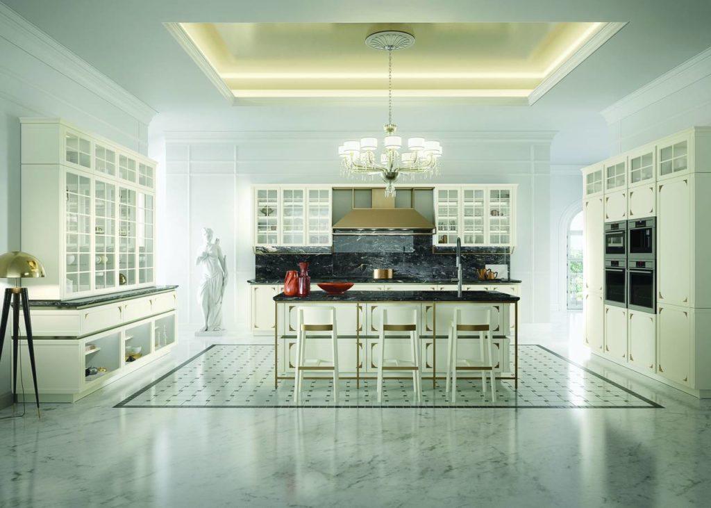 Di ispirazione classica, Kelly è l'ultima cucina firmata da Massimo Iosa Ghini per Snaidero