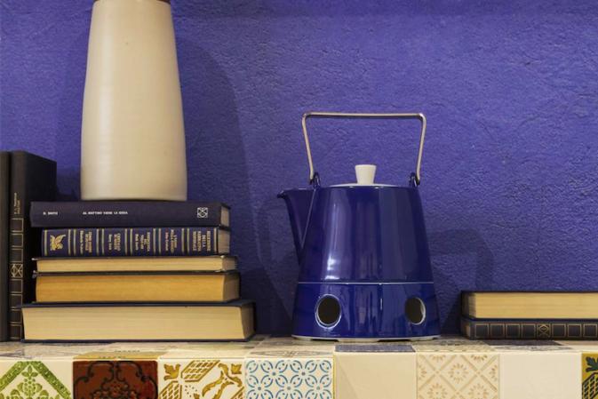 Tocchi di blu (e d'azzurro) in cucina