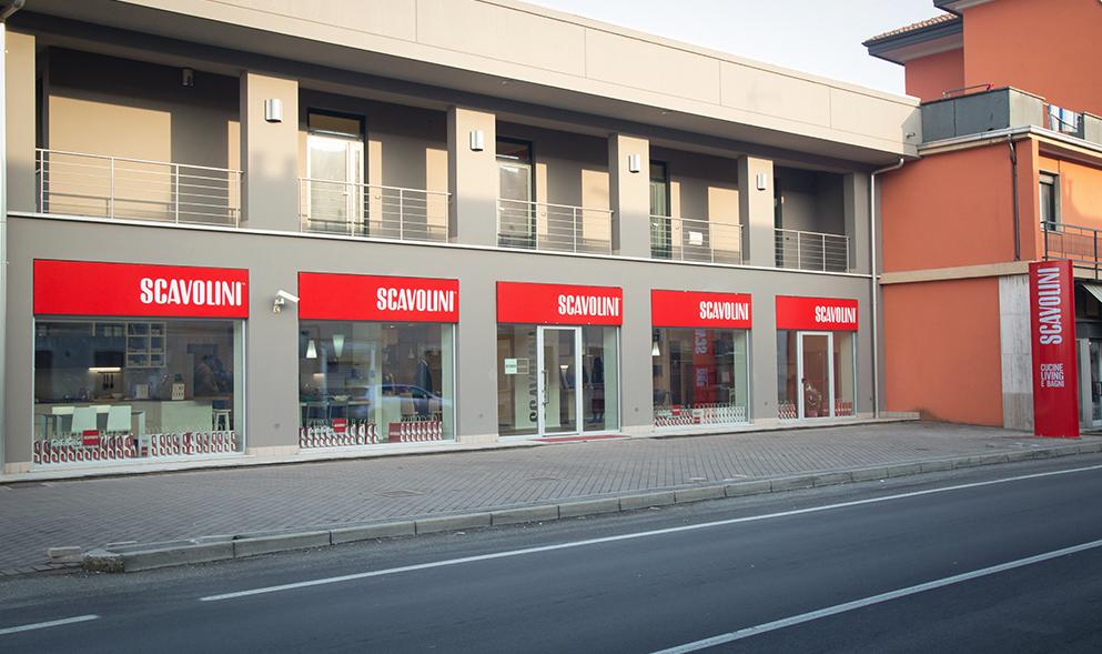 L'esterno dello Scavolini Store Borgomanero, inaugurato domenica 29 gennaio