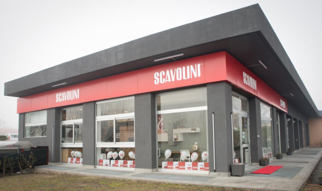 L'esterno dello Scavolini Store Pinerolo, inaugurato domenica 29 genna