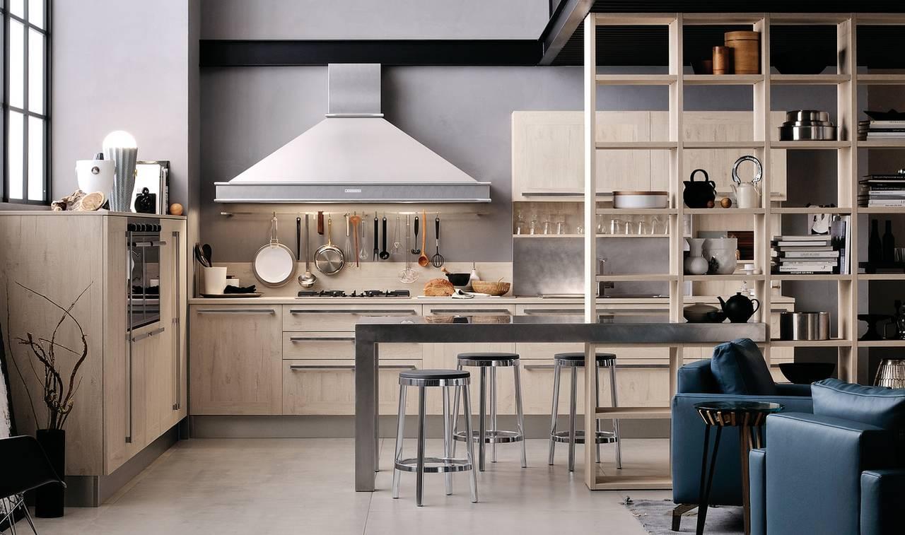 Il laminato che imita il legno ambiente cucina - Cucine in legno chiaro ...