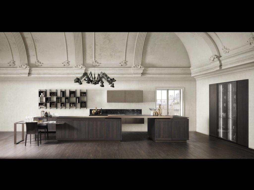 Design Nick Studio - Berloni Design Lab per Lisa che propone il gioco geometrico tra doghe orizzontali e verticali